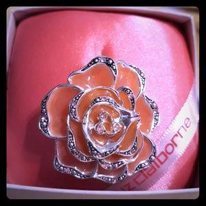 Liz Claiborne Pink Camellia Rose Brooch/Pendant